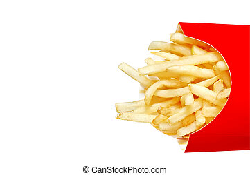 French Fries - French fries with clipping path.