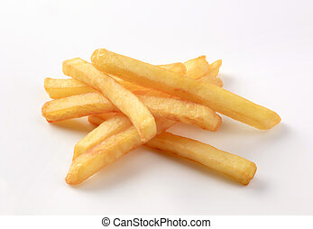 French fries  - Heap of French fries on white background