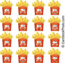 French fries with feature a different expression