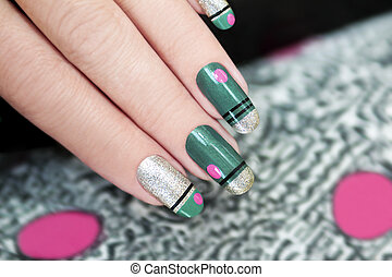 French green manicure.