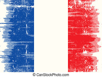 French grunge flag