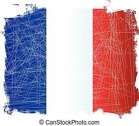 French Grunge Flag