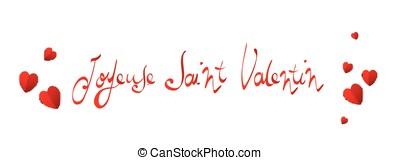 French Happy Valentines Day banner