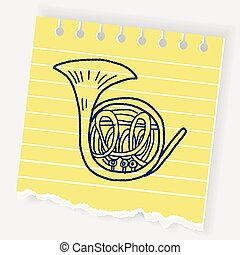 French Horn doodle