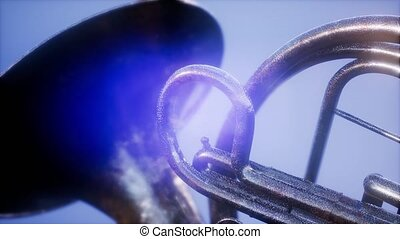 french horn with DOF and lense flairs