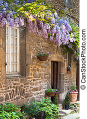 French house front porch