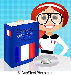 illustration of french language course