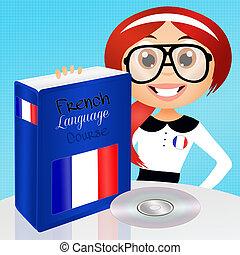 French language course - illustration of french language...
