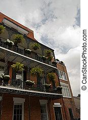 french místa, balkón