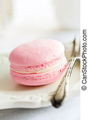 Parisian style macaron ready to eat