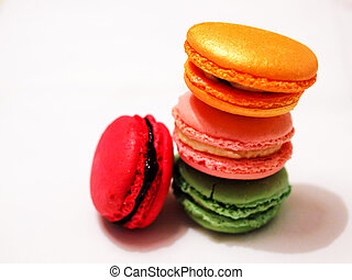 A still-life of some tasty macarons