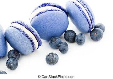 French macarons - Gourmet small colorful French macarons...