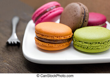 French macaroon. Traditional french dessert colorful ...