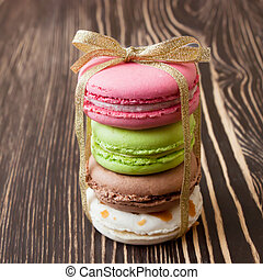 French macaroons .Dessert - colorful traditional French ...