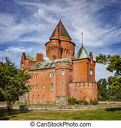 French medieval style castle of Hjularod Sweden