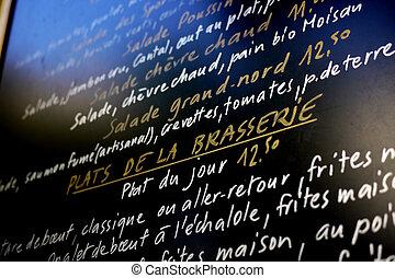 french menu board - menu board in french