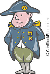 French Miilitary General Cartoon