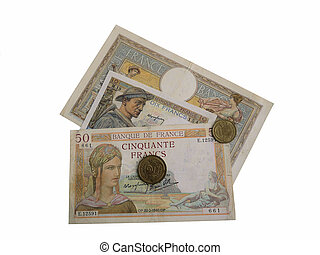 French money 1930s-1940s