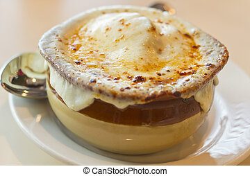 French Onion Soup - French onion soup with crispy gruyere ...