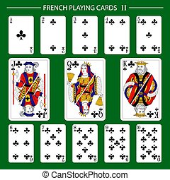 French playing cards suit clubs 2