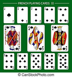 French playing cards suit spades 2