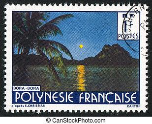 Bora Bora - FRENCH POLYNESIA CIRCA 1979: stamp printed by...