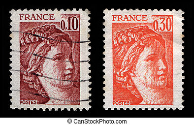 French Postage Stamps