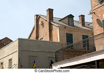 French Quarter Architecture - historic buildings in the New...