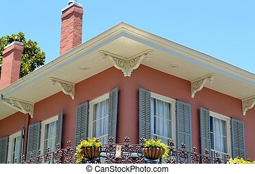 French Quarter Architecture - Traditional architecture of...