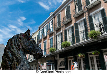 French Quarter Street Post