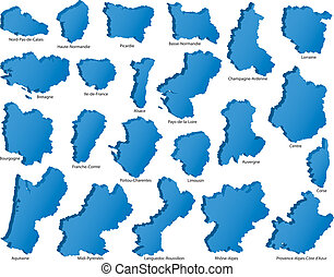 French Regions Icons