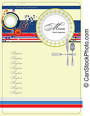 French restaurant (cafe) menu. Vect