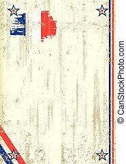 French retro background