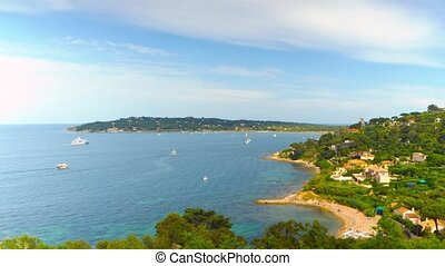 French Riviera, time-lapse