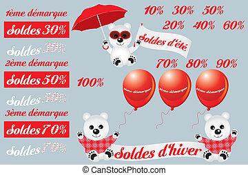 French sale design elements - Soldes