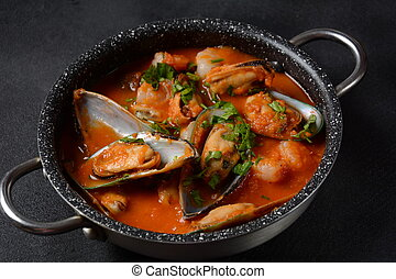French seafood bouillabaisse soup/fish stew