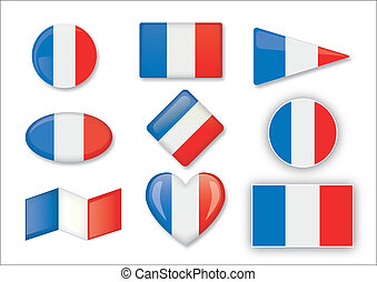 French set of flags