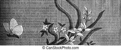French Silk, second half of the eighteenth century...