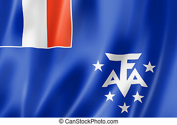 French Southern and Antarctic Lands flag, Overseas Territories of France