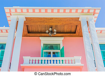 French style buildings and colorful