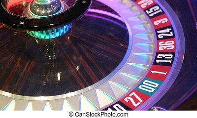 French style roulette table for money playing in Las Vegas, ...