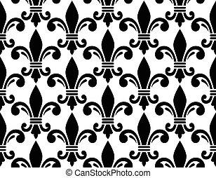 French style seamless pattern