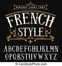 French Style Vintage Poster