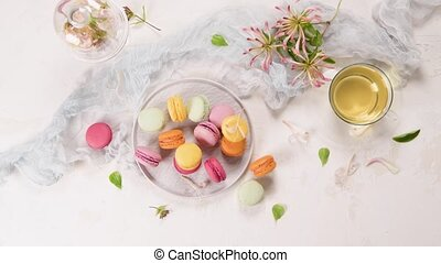 French sweet macaroons - A french sweet delicacy, macaroons ...