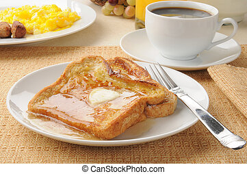 French toast with sausage and eggs