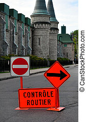 French traffic signs - Traffic signs in French: road control...