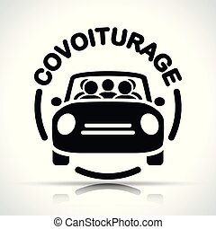 French translation for carpooling icon - French translation ...