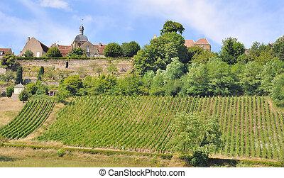 french village in Burgundy
