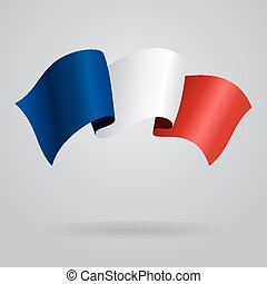 French waving Flag. Vector illustration