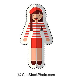 french woman avatar character